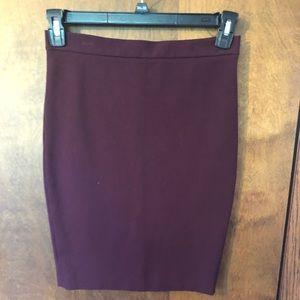 Plum pencil skirt